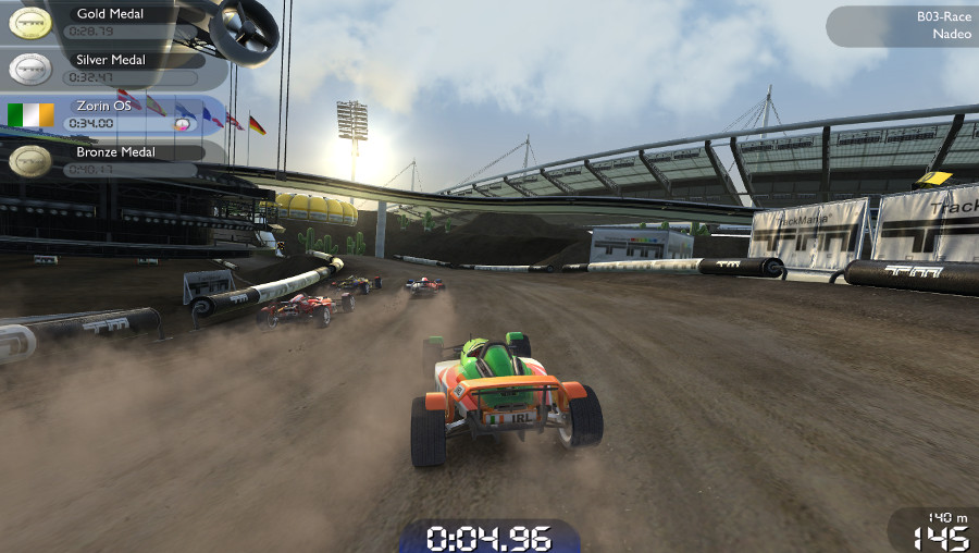 Trackmania in Zorin OS 12.3