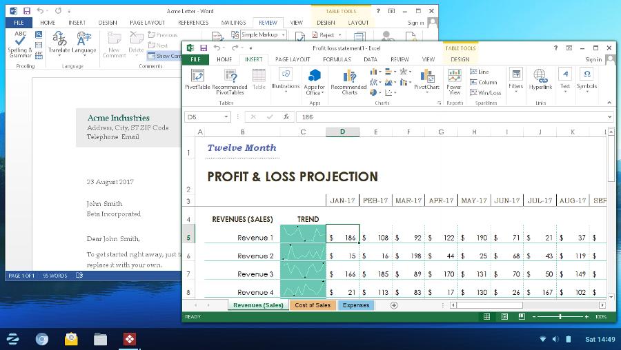 Microsoft Office 2013 in Zorin OS