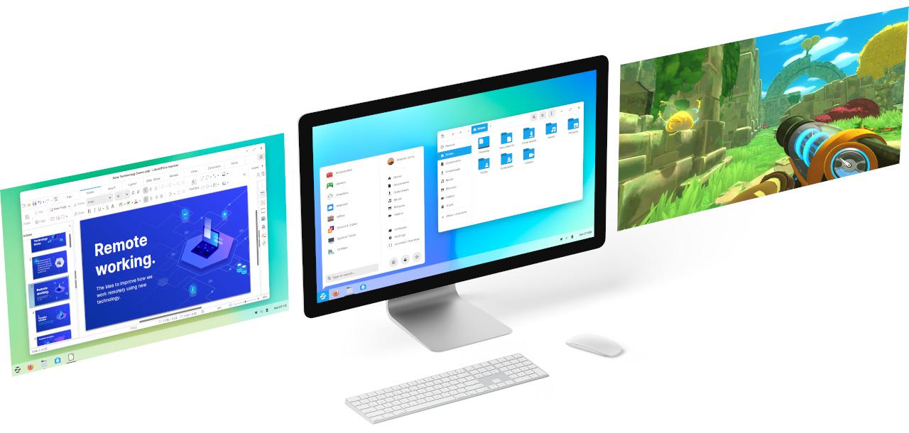 Computer running Zorin OS 15.3