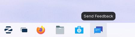Send Feedback button in taskbar