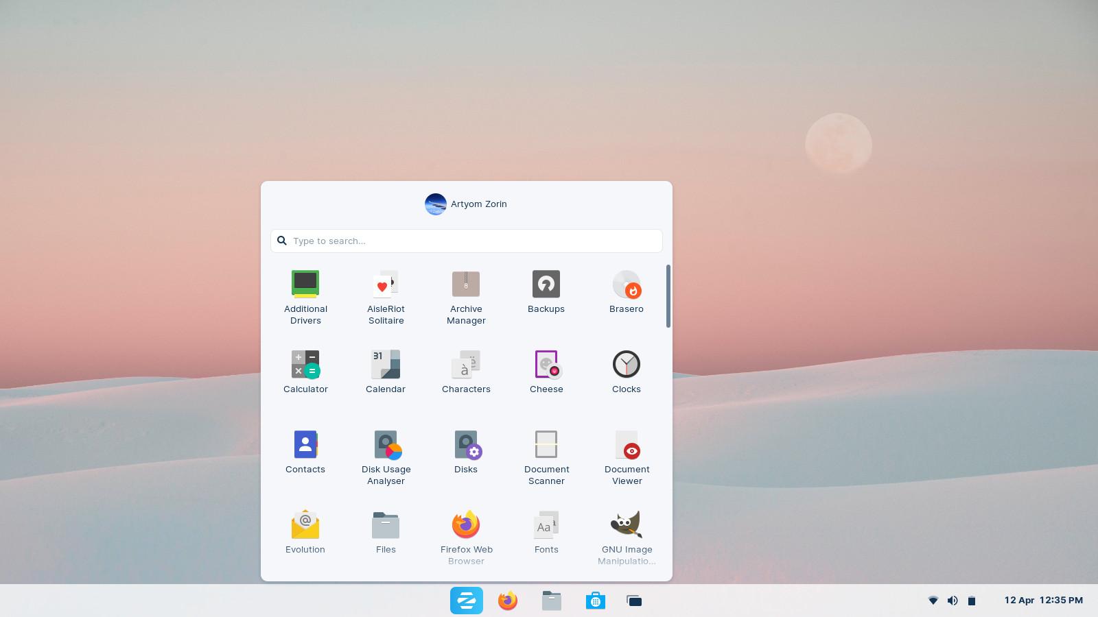 Windows 10X-like desktop layout