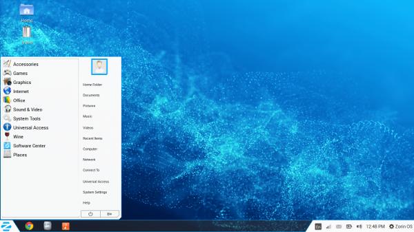 Zorin OS 9 desktop